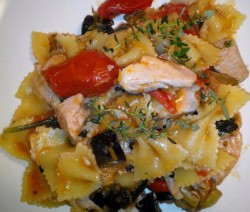 Farfalle Salmone e Melanzane - Crazy Chef