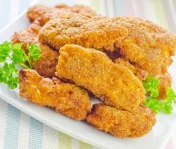 Bastoncini di pollo impanati