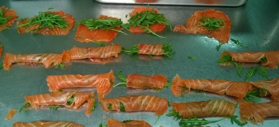 Involtino di salmone con rucola e mela granny smith - crazychef