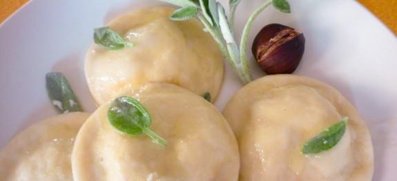 Ravioli con ripieno di marroni